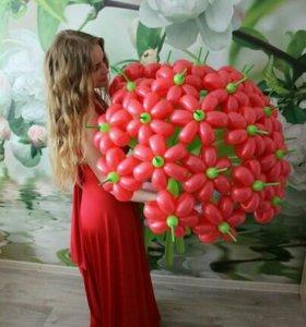 Цветы 💐, букеты из шаров