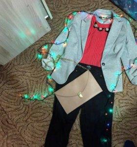 Пиджак ,блузка ,штаны ,сумка