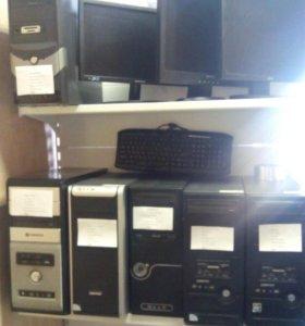 Системные блоки и монитрры