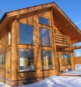 новый дом из кедра 2 этажа