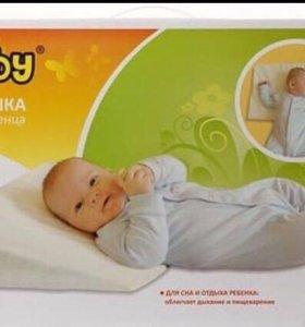 Подушка в кроватку/коляску для новорожденных