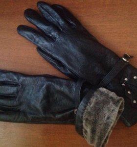 Перчатки НОВЫЕ кожаные на меху