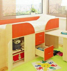 Кровать трансформер+шкаф