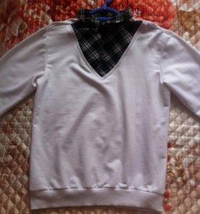 Свитер +рубашка