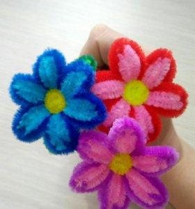 Ручка с цветочком.