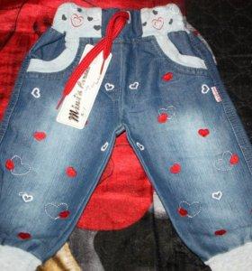 Новые джинсы для девочки