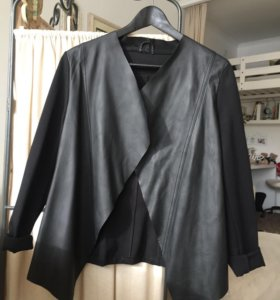 Дизайнерский пиджак кожа трикотаж