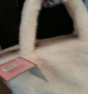 меховая сумочка  мех мех япония
