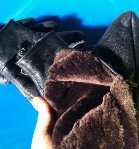 Кожанные тёплые носки