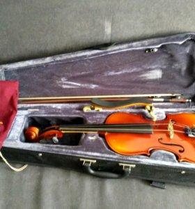 Скрипка Stagg music VN-4/4 H в чехле + мостик