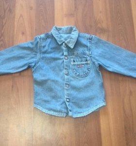 Рубашка джинсовая 1-2 годика