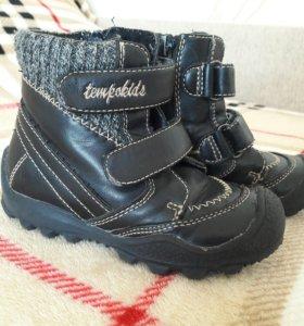 Стильные кожаные ботинки Tempokids