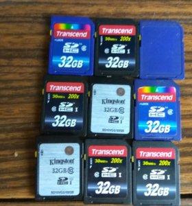 Флэшка  SD 32 gb карта памяти