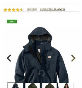 Куртка Carhartt новая мужская мембрана ветровка