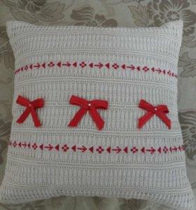 Декоративная подушка ручной работы