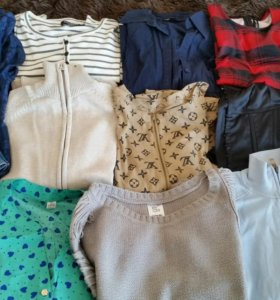 Свитера, блузки, рубашки, джинсовая, платье