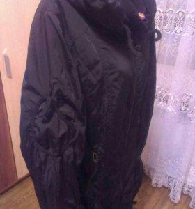 Пальто черное на флисе! Новое!