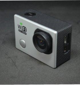 Новая экшн камера SJ6000 WiFi с Экраном + Набор Креплений