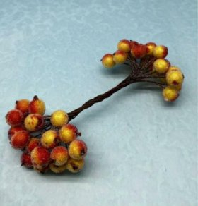 Рябина на ветке в сахаре Цвет: красно-оранжевый.