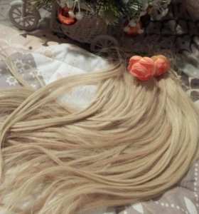 Натуральные волосы(блонд)