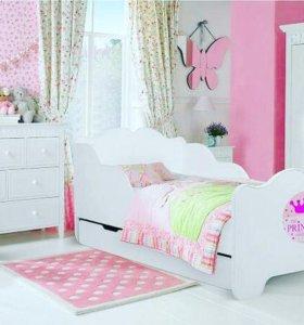 Новая детская кровать 160*80 с ящиком и матрасом
