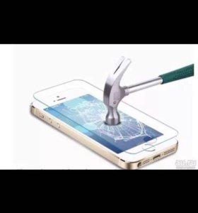 Защитное стекло на iPhone 5s и.т
