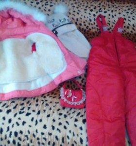 Зимний костюм на девочку 2-4года