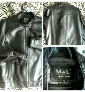 Мужская куртка кожанная