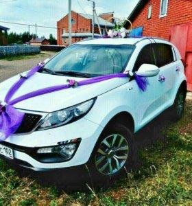 Авто на свадьбу с украшением