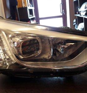Фара правая Hyundai Santa Fe DM 2015 г.в. ксенон