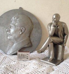 Сталин барельеф Ленин скульптура