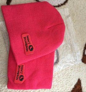 Новый комплект шапка+шарф на 1-2 год