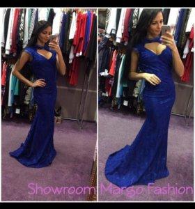 Синее платье макси. Новое.