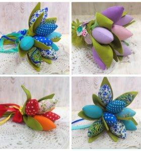 Текстильные тюльпаны - оригинальный подарок