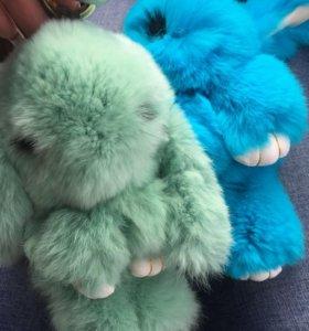 Кролики брелки с ресничками