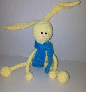 Заяц с шарфом. Модный умник