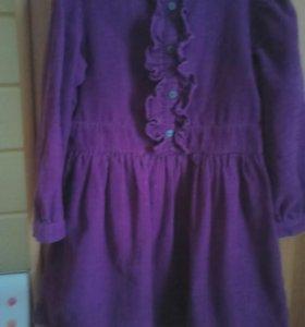 Шикарное  вельветовое платье