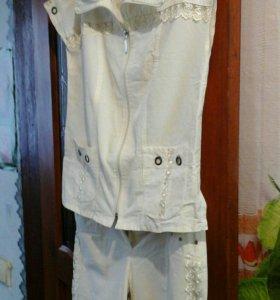 Летний костюм размер 52 белый