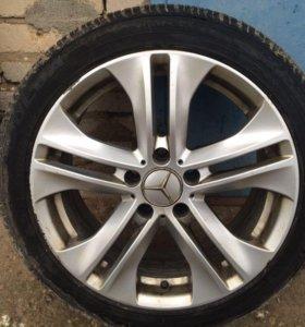 колеса в сборе Mercedes Benz R17 зимние липучка