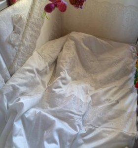 Комплект в кроватку для новорождённой принцессы