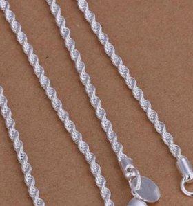 Цепочки и кольца из серебра