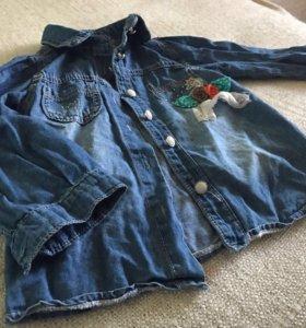 Рубашка джинсовая детская
