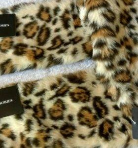 Кашне шарф из искусственного меха ZARA