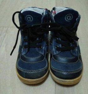 Ботинки кожа + замш