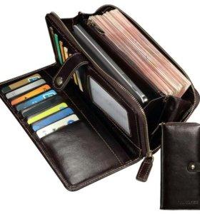 Мужской кошелек из натуральной кожи (Италия)