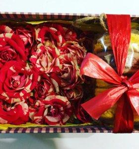 Коробочки с цветами и сладостями | FLOWERbox