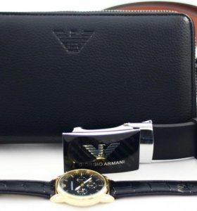 Часы Armani + Портмоне Armani + Ремень Armani