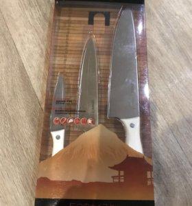 Набор из 3 кухонных стальных ножей miko Samura