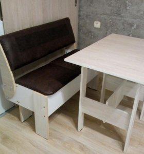 Новый стол + скамья.