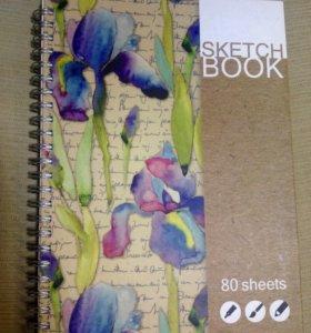 Скетчбук (блокнот с чистыми листами для рисования)